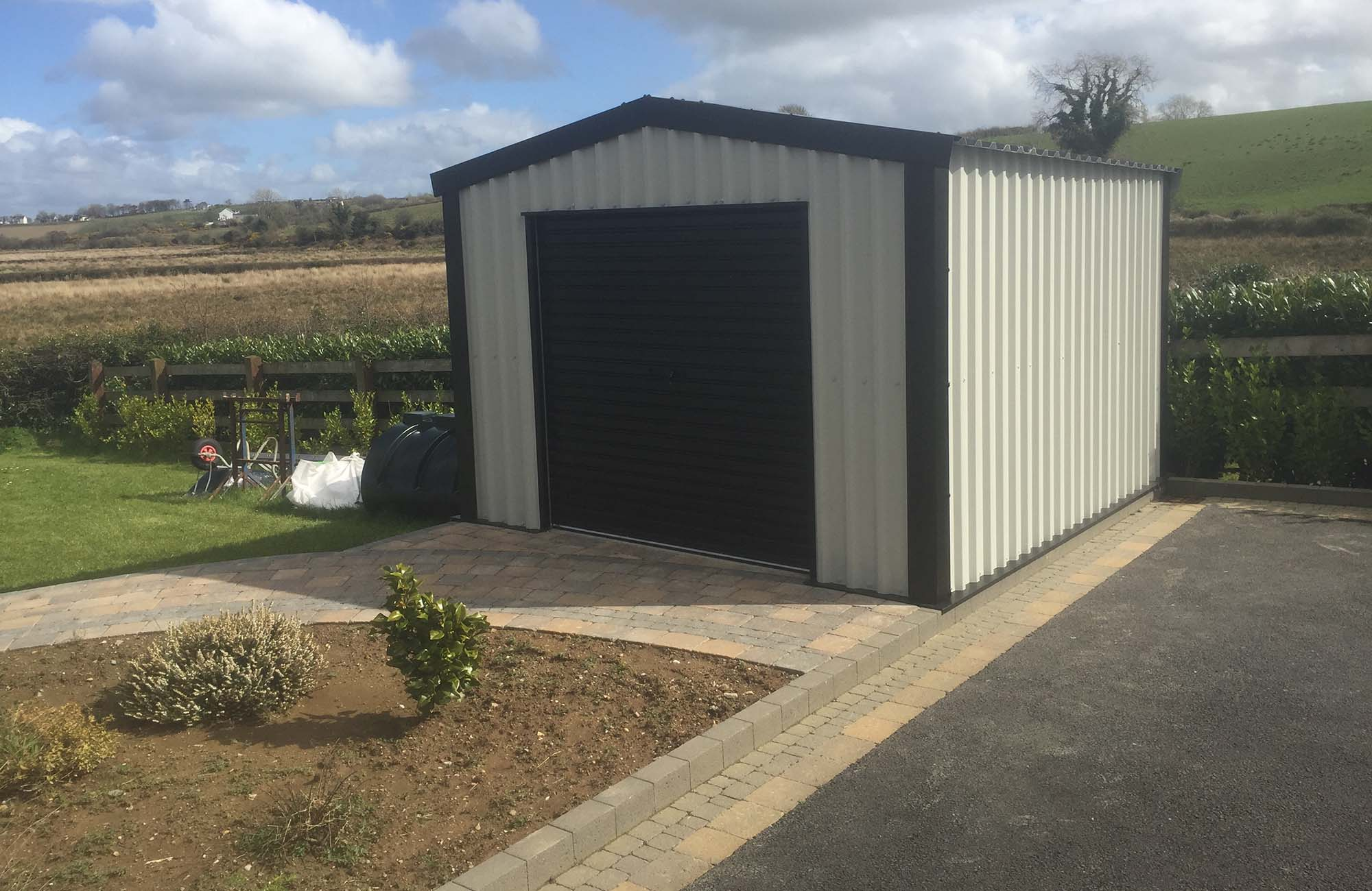 Steel building shed